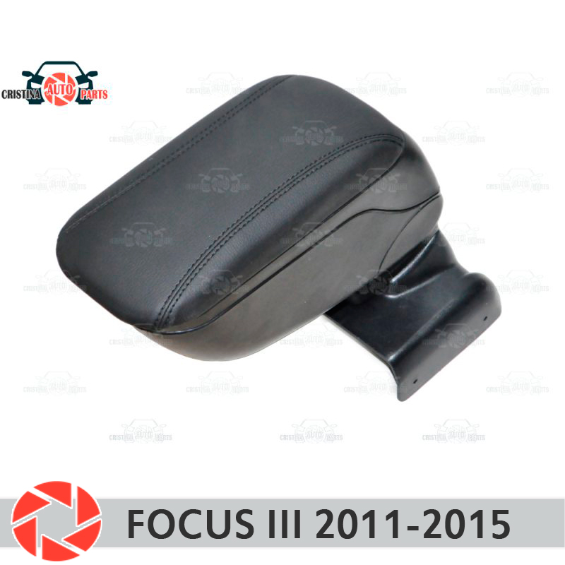 For Ford Focus III 2012-2015 car armrest central console leather storage box ashtray accessories car styling h11 male to female wire harness sockets extension cable for car headlamp foglight