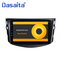 8 HD Digital Touch Screen Bluetooth GPS Navigator 1 Din Car Radio Player for Toyota RAV4 2009 2010 2011 2012 with Android 9.0