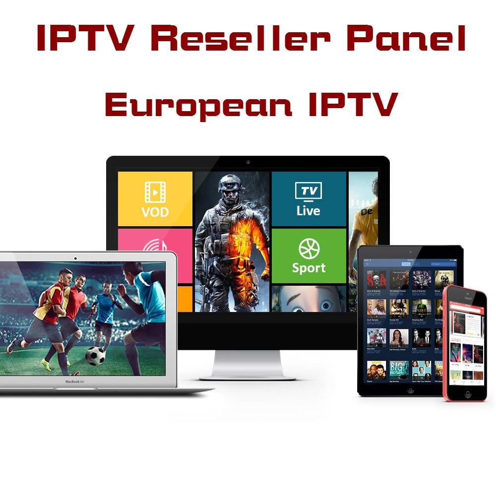 IPTV panneau revendeur panneau de commande gérer le système pour IPTV détaillant android tv box m3u smart iptv