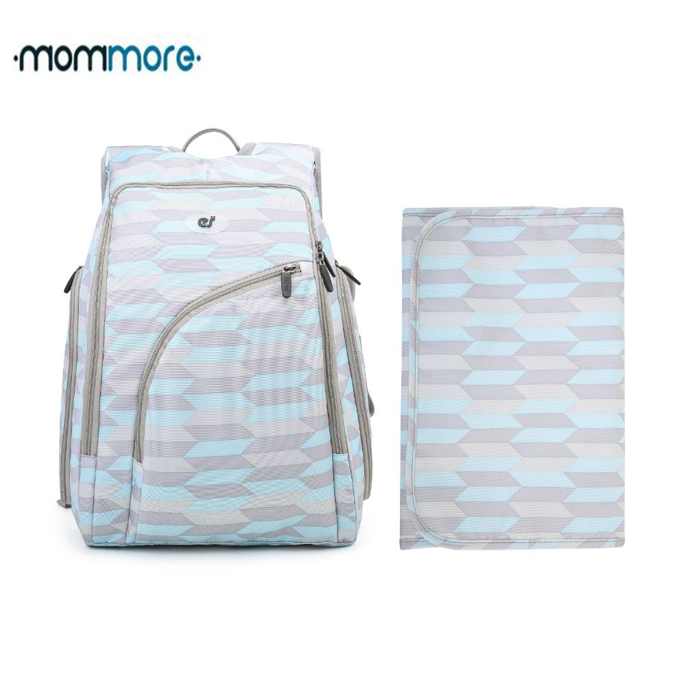 mommore Fully opened Baby Diaper Backpack with Changing Pad Large Capacity Baby Maternity Backpacks Nappy Bags