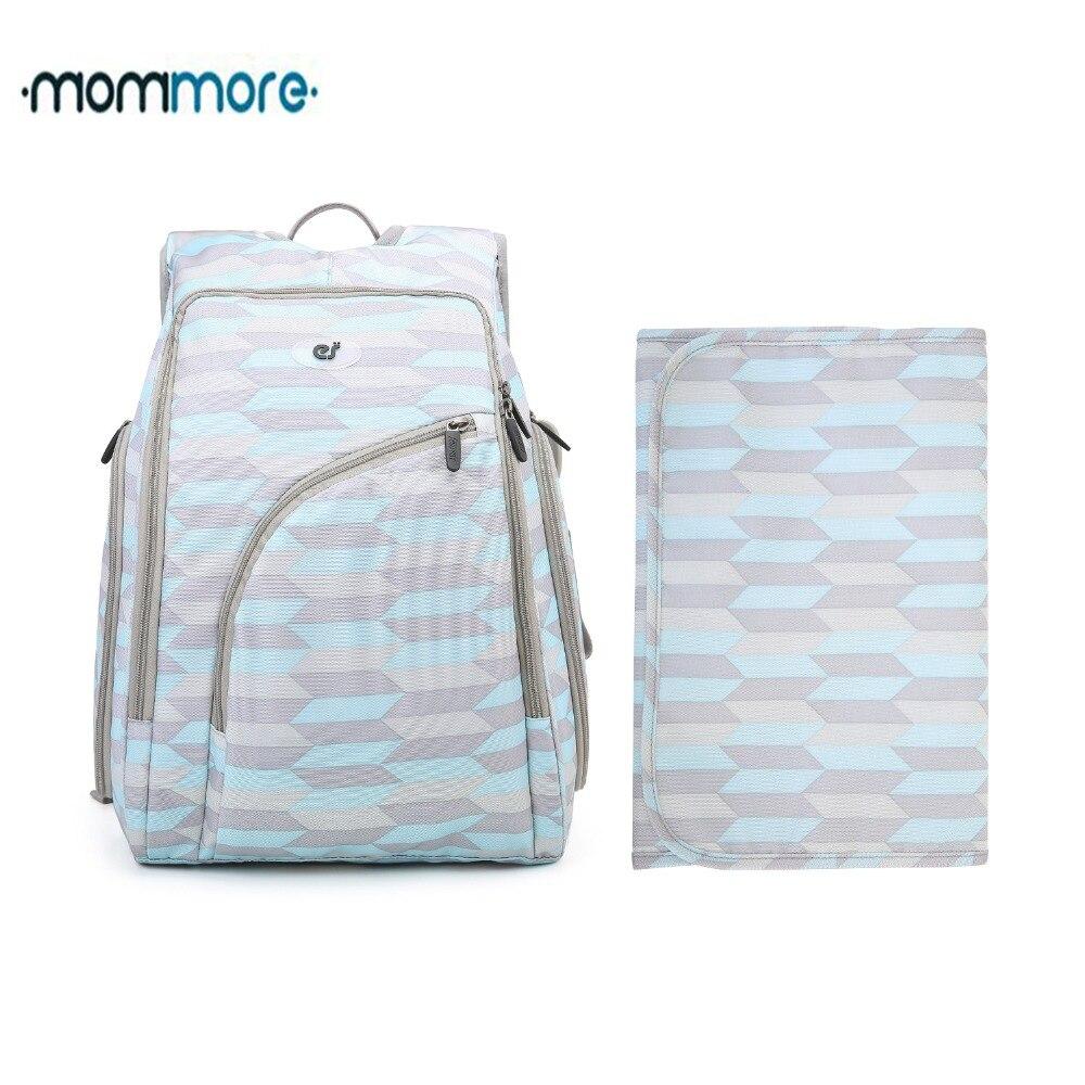 Mommore Complètement ouverts Bébé sac à dos pour couches avec matelas à langer Grande Capacité Bébé Sacs À Dos De Maternité Nappy Sacs pour Bébé Soins