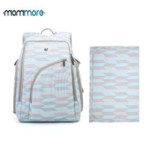 mommore Diaper Backpack Fully-opened Baby Bag with Changing Pad Backpacks Nappy Bags Multifunctional