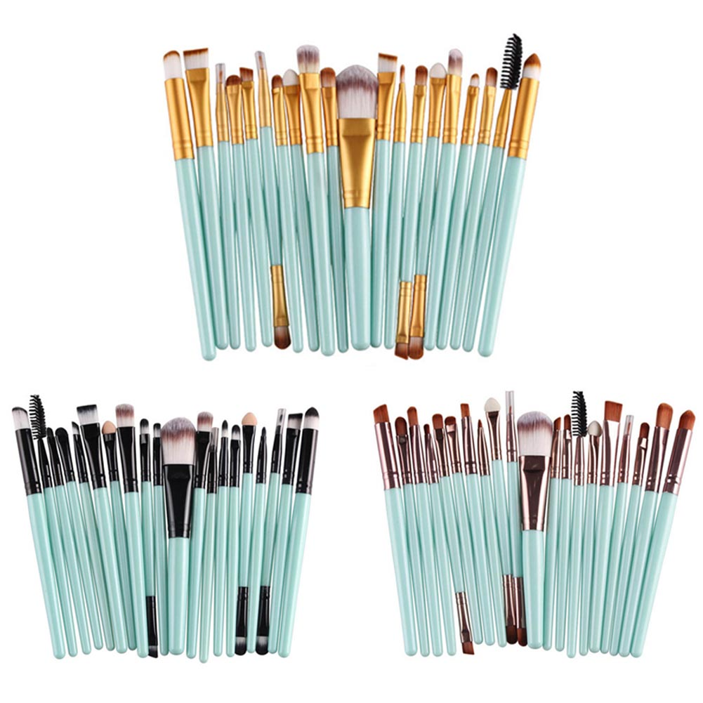 20Pcs Makeup Brushes Set Pro Powder Blush Foundation Eyeshadow Eyeliner Lip Cosmetic Brush Beauty Make up Brushes Tool new arrival iron