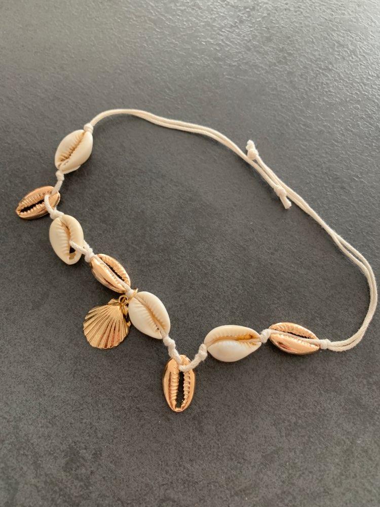 Bracelet de Cheville Blanc Ariela