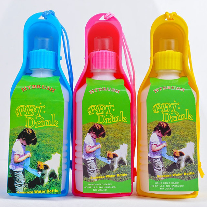 250ml Foldable Pet Dog Water Bottle Outdoor Travel: Waterfles Hond Portable Dog Water Bottle Foldable Plastic