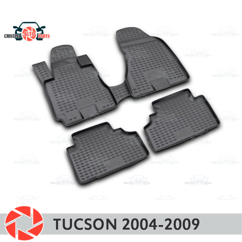 Floor mats for Hyundai Tucson 2004-2009 rugs non slip polyurethane dirt protection interior car styling accessories