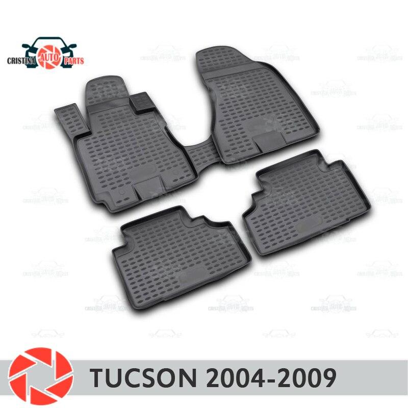 Tapetes para Hyundai Tucson 2004-2009 tapetes antiderrapante poliuretano proteção sujeira interior car styling acessórios
