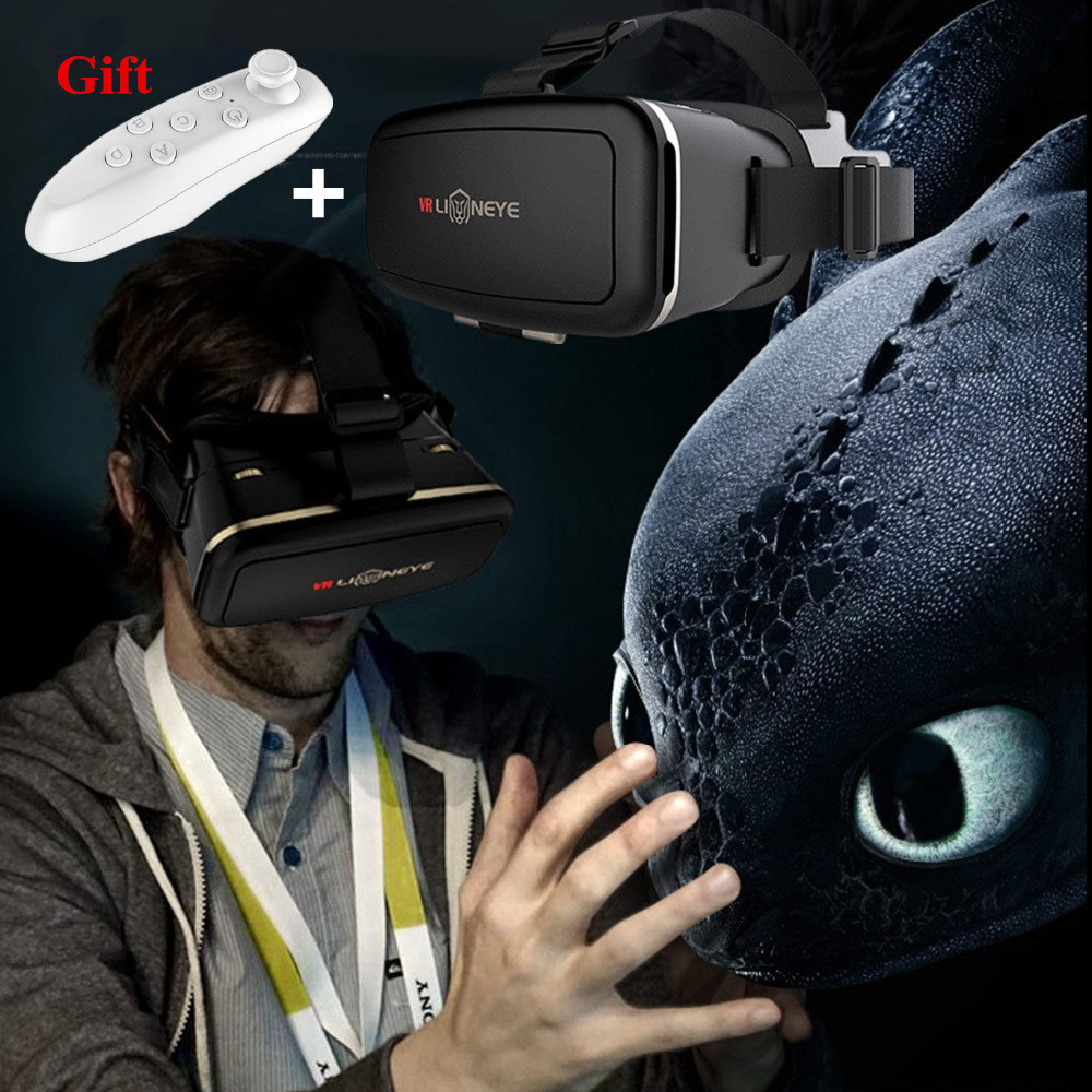 Virtual Reality Glasses 3D Glasses VR Headset Men Womens Glasses Virtual Viewer Joystick for Phone Google Cardboard Smartphone ...
