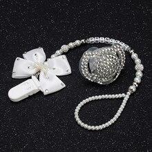 MIYOCAR all name hand made bling crystal rhinestone princess Baby Pacifier/ Nipples /Dummy /cocka /chupeta &pacifier clips