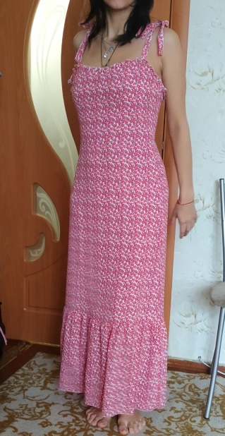 Print Ruffles Mid Summer Dress Women Casual Twist Party Dress Strapless Print Beach Princess Long Dress Vestidos photo review
