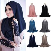 Women Fashion Chiffon Long Scarf Muslim Hijab Arab Wrap Shawl Headwear Decor