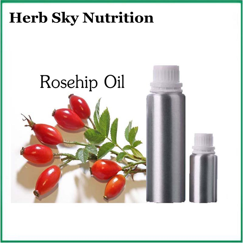 Best buy ) }}Factory price 100% pure natural organic rosehip oil massage oil free shipping