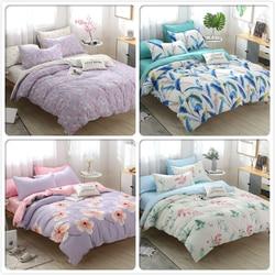 Flower Pattern Duvet Cover Pillowcase 3pcs Bedding Set Adult Kids Cotton Bed Linens Quilt Pillow Case 160x200 180x220 200x230 cm