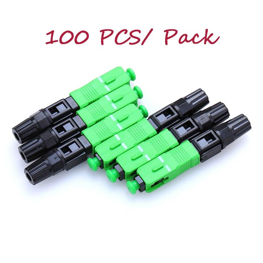 100 pçs/lote 0.3dB FTTH APC SC single-mode de fibra óptica SC APC conector rápido SC APC conector De Fibra Óptica FTTH conector rápido para CATV