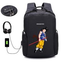 anime Dragon Ball Z backpack USB Charge Computer Backpacks Anti-theft bag student book Bags teenagers men women Travel backpack недорго, оригинальная цена