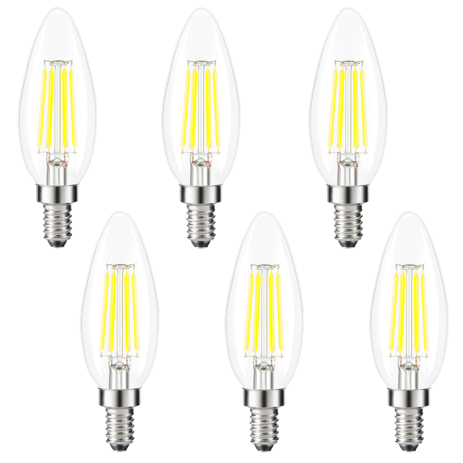 kohree edison candelabra bulb e12 led bulb b10 candle light bulb 40w equivalent 5000k daylight white