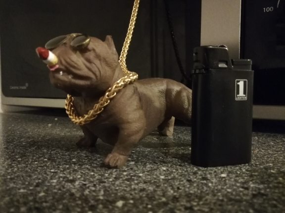 Car Dog Pitbull Figure photo review