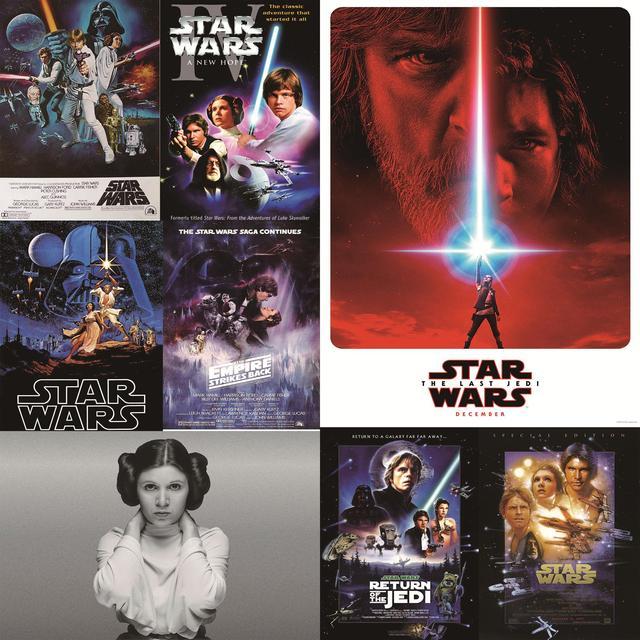carteles de pared posters de alta definicin de star wars princesa leia el ltimo jedi decoracin