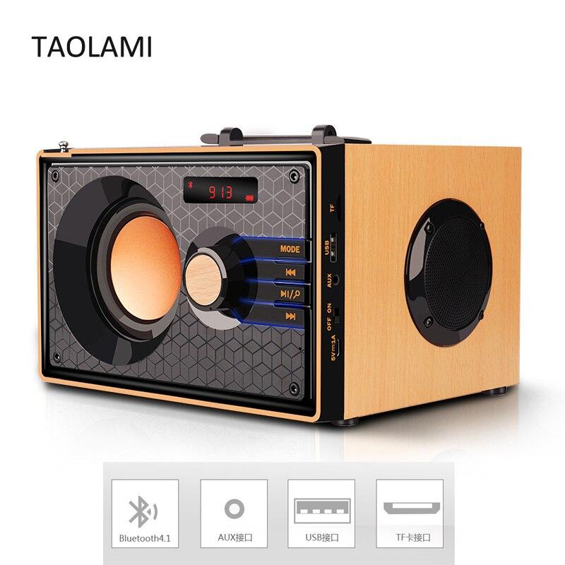 Portable Wireless Bluetooth Speaker Wooden Subwoofer Stereo Speakers HIFI Heavy Bass Soundbar Loudspeaker DHL Drop Shipping