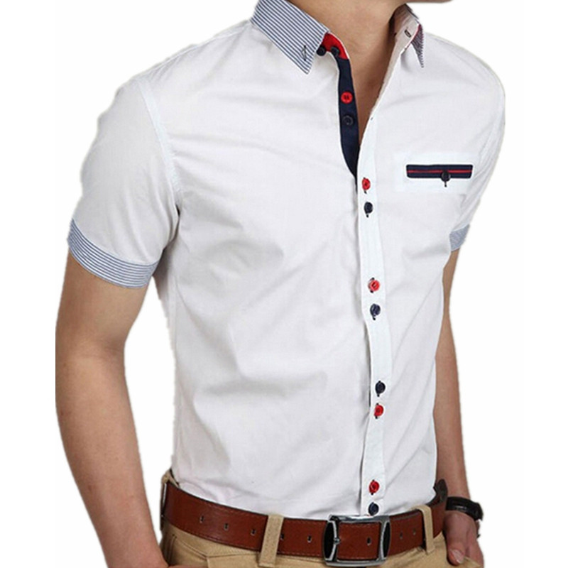 5d48456fd28a6 Buy lapel buttons short sleeve and get free shipping on AliExpress.com