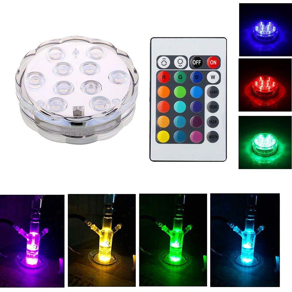 Аксессуары для кальяна, светодиодные лампы с цветным пультом дистанционного управления, подсветка для бутылки, прохладные светодиодные ог...