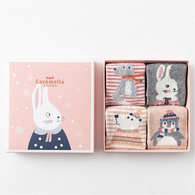 Комплект детских носков «Зимний кролик», 4 пары