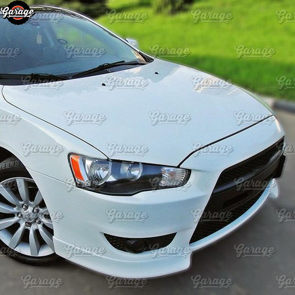 Image 2 - Fangs of front bumper for Mitsubishi Lancer 10 2007 2010 ABS 