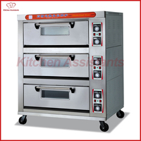 Htd60 3 палубы коммерческих Электрический Еда печь для пиццы для пекарни магазин