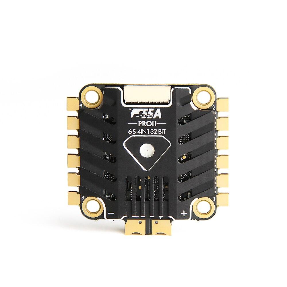 T-motor F55A PROII 55A 3-6 S 4 en 1 Blheli_32 32bit avec LED DSHOT1200 sans balai ESC 30.5X30.5 MM pour Drone RC FPV Racing