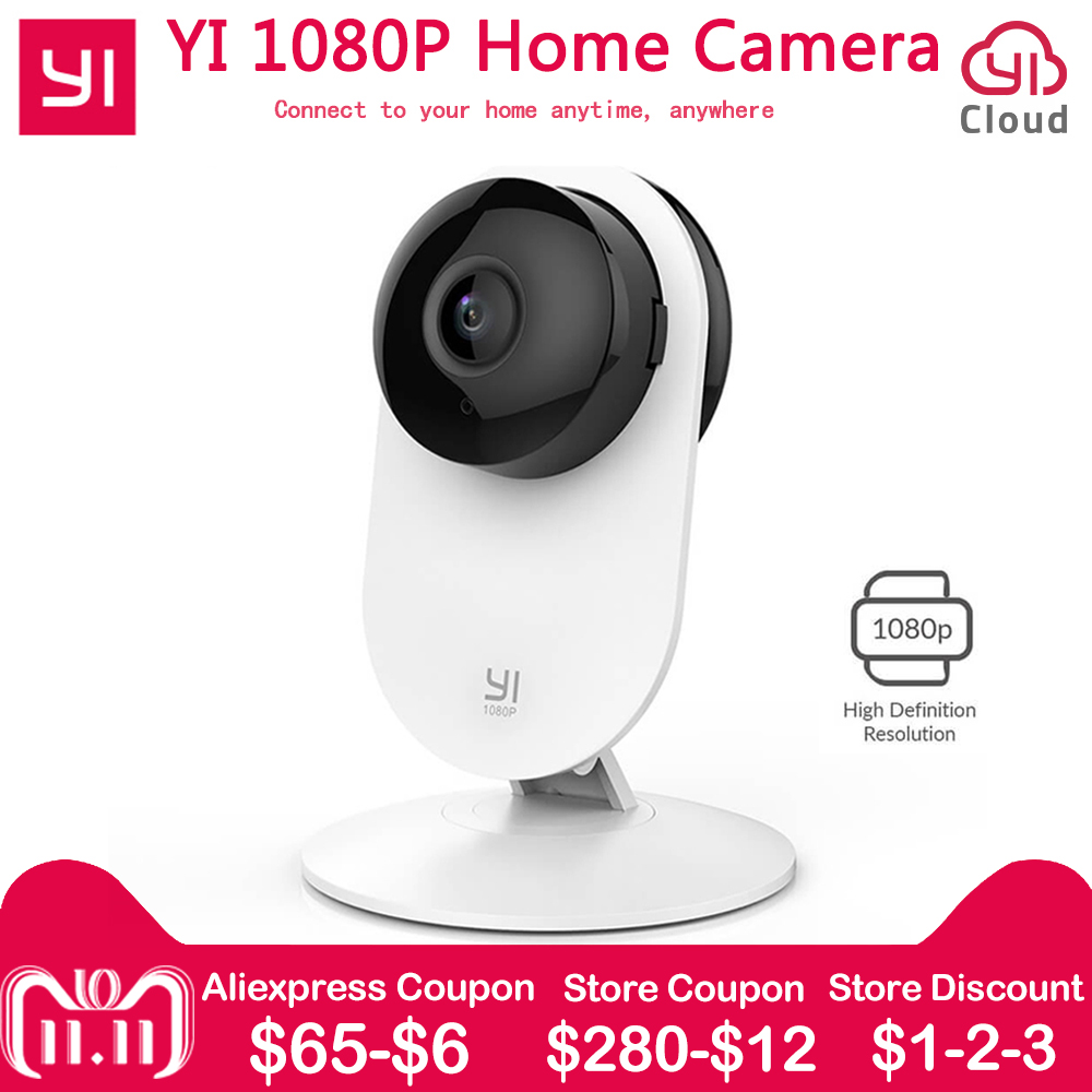 YI 1080p Home Camera WIFI Wireless IP Surveillance System Xiaoyi YI Security Mini Camera for Home/Office/Baby/Nanny/Pet Monitor