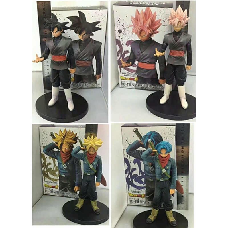 Dragon ball Super Figure DXF The Super Fighter Vol.2 3 4 Blue Yellow Hair Vegetto Trunks Goku Black PVC Action Figure Model Toys anime dragon ball super saiyan 3 son gokou pvc action figure collectible model toy 18cm kt2841