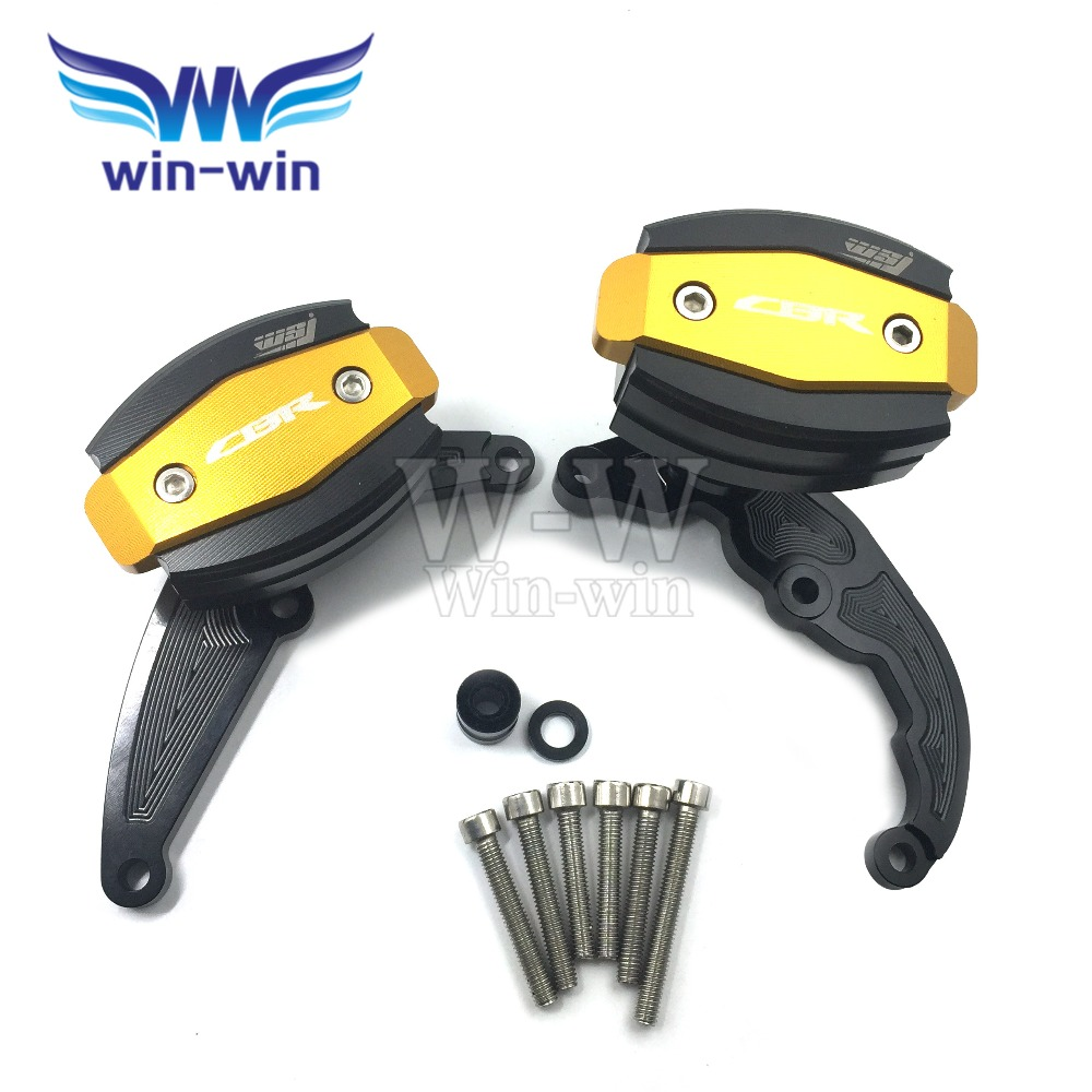 For honda cbr600rr 2007 2008 Motorcycle accessories Engine Cover Frame Sliders Crash Protector cbr 600 rr 600rr motorcycle radiator grille protective cover grill guard protector for 2007 2008 2009 2010 2011 2012 honda cbr600rr cbr 600 rr