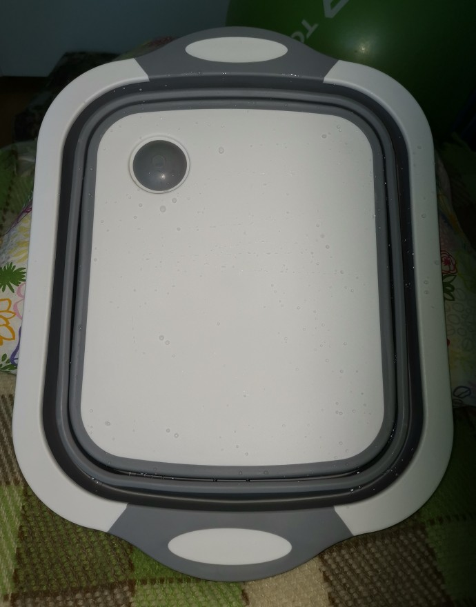 3 in 1 Collapsible Washing Basket Cutting Board Drain Basket photo review