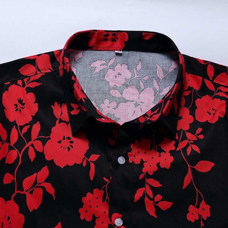 Casual Marque Longues Chemises 10xl Hommes Classique Floral Homme Imprimé Robe Mode Rétro Chemise Beige Respirant Vêtements À Manches 8xl 6xl De x4wYq4UA