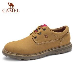 Image 1 - 캐멀 새로운 패션 남자 공구 신발 남자의 정품 가죽 신발 남자 야외 캐주얼 야생 편안한 남자 신발