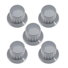 UXCELL 5Pcs 6mm Plastic Copper Potentiometer Rotary Knob Grey  Insert Shaft 25x19.5mm For Connect Supplies