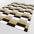 Черный  серый  белый прямоугольник геометрический 3d принт Нескользящая микрофибра для гостиной декоративный современный моющийся коврик