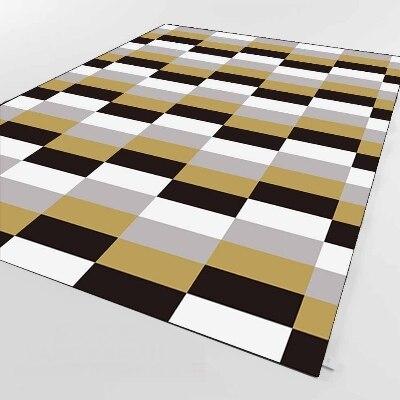 Else Black Gray White Rectangler Geometric  3d Print Non Slip Microfiber Living Room Decorative Modern Washable Area Rug Mat