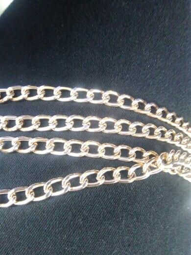 Mode metalen gouden ketting riem voor tas 120cm metalen alunimium handtas ketting accessoires voor diy vervanging tas onderdelen accessoires photo review
