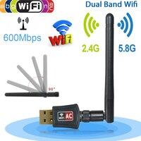Беспроводной адаптер Wi-Fi сетевые карты Двухдиапазонный 600 Мбит/с 2,4/5 ГГц Внешний ноутбук ПК настольный Wi-Fi приемник для Windows Mac