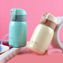 2017 Hot Sale New Cute Mini thermos Stainless Steel Vacuum Cup light and portable kids water bottle Coffee Tea Mugs Thermocup(China)