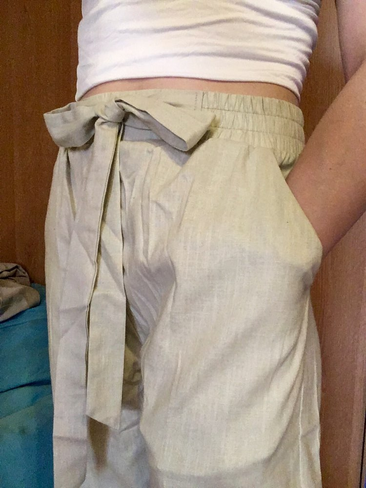 Autumn Spring Full Pants Summer Large Size M 6Xl 7Xl Cotton Linen Vintage Trousers Casual Solid Drawstring Pencil Pants photo review