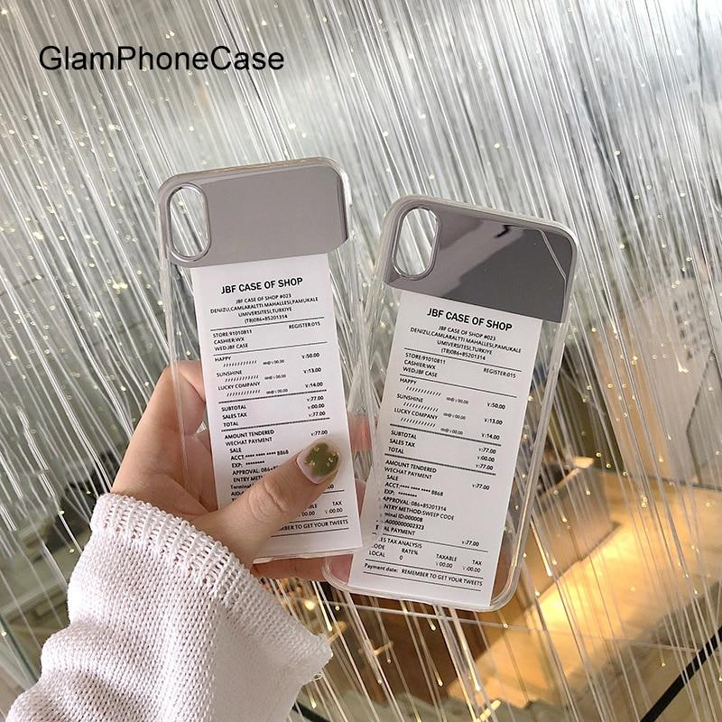 Projeto de Lei GlamPhoneCase Espelho Caso de Telefone Para o iphone X XS Max XR Suave Silicone Capa Para iPhone 7 8 6 6 s Mais Caso