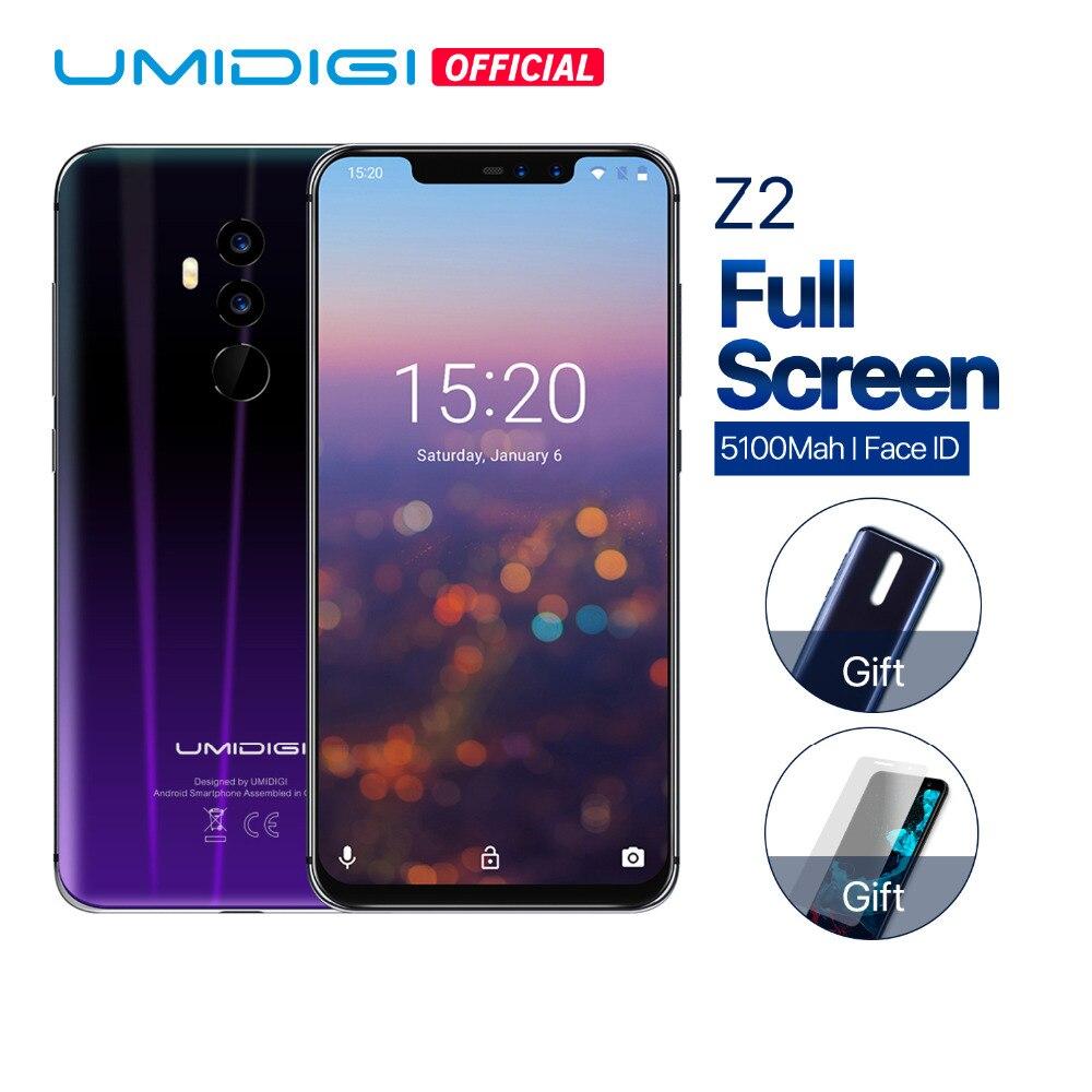 UMIDIGI Z2 Mondial Version 6.2 FHD + Plein Écran Helio P23 6 gb RAM 64 gb ROM Quad Caméra android 8.1 3850 mah Visage ID 4g Smartphone