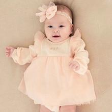 1 year girl baby birthday dress, Little Girls Long-Sleeved Fall Dress, Baby 3pcs Dress Set Pink girls clothes set