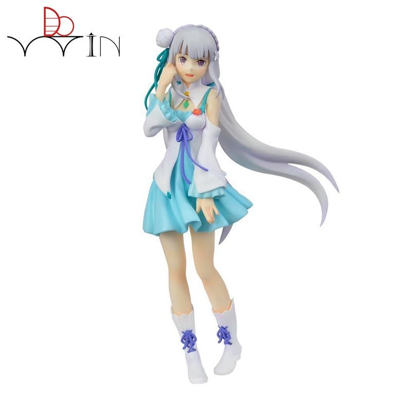 in stock! japanese 20cm Re Zero Starting Life in Another World Emilia kara Hajimeru Isekai Seikatsu PVC Action Figure Model zxz re zero emilia action figure re life