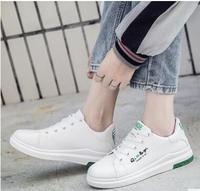 Asas de couro nova primavera de renda branca bordado mulher sapato plana sapatos brancos sapatos casuais estudantes do sexo feminino