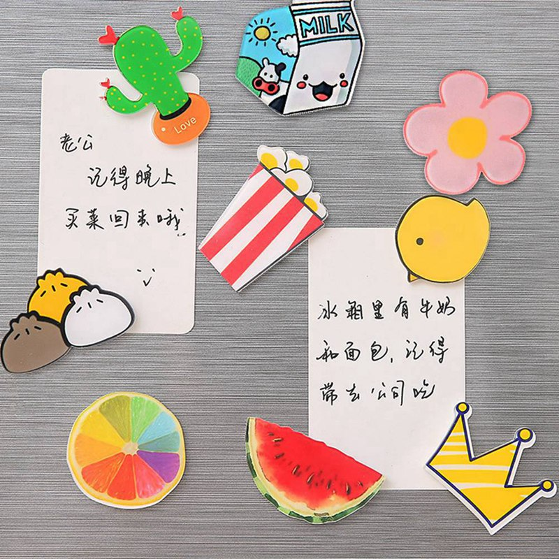 Творческий мультфильм Главная сообщение заметки Кухня магнит на холодильник Стикеры 1 шт.