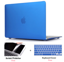 все цены на Frosted Surface Matte Hard Cover Case+Screen protector+Keyboard Cover For Macbook Air 11 13 Pro Retina 12 13 15 Touch Bar 13 15 онлайн
