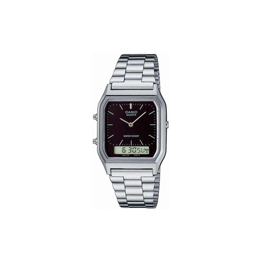 Relógios de Pulso de quartzo Casio para mens AQ-230A-1D Relógios Homem Relógio de Pulso Relógio De Pulso dos homens